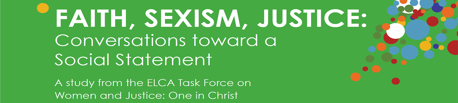 Faith, Sexism, Justice