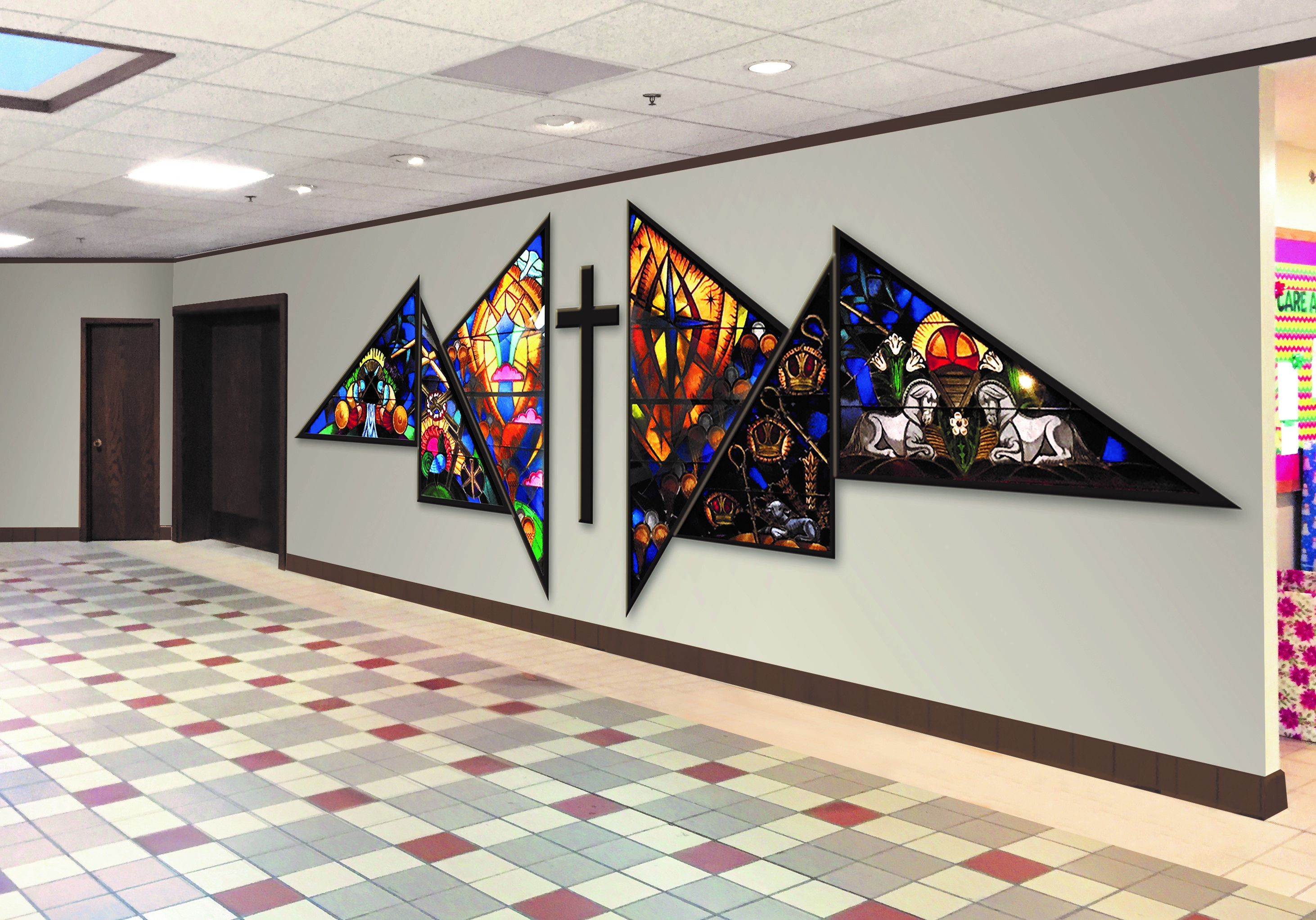 Foyer between Luther Hall & Fellowship Hall