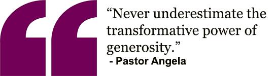 Angela - Generosity quote