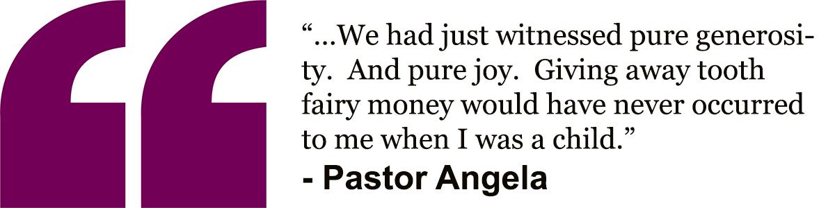 Pastor Angela's quote