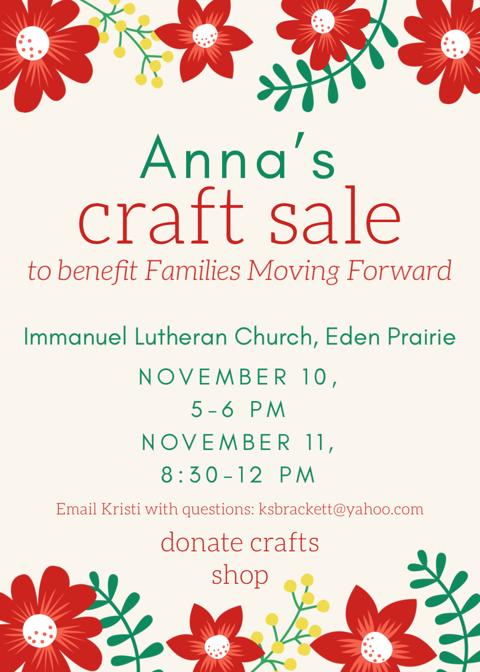 Anna's Craft Sale