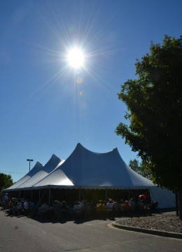 Welcome Sunday tent - Join us!